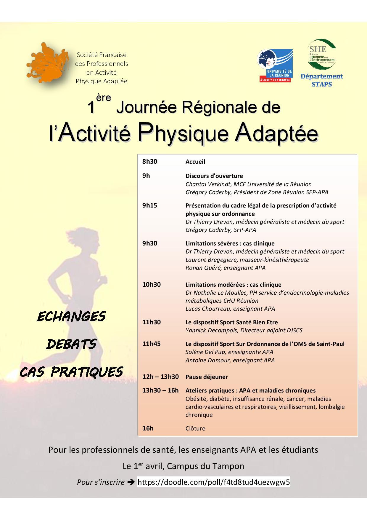 1ère Journée Régionale de l'Activité Physique Adaptée