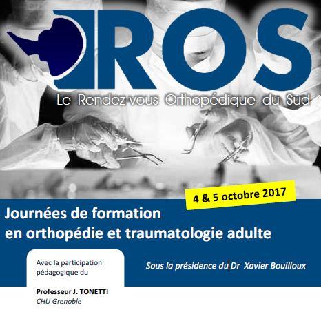 Rendez-vous Orthopédiques du Sud 2017 – ROS